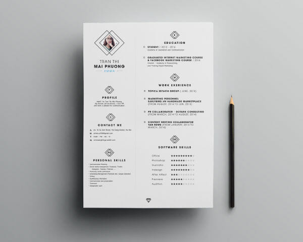 24 Free Resume Templates to Help You Land the Job - resume templates for designers