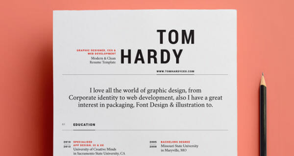 24 Free Resume Templates to Help You Land the Job - Simple Resume Design