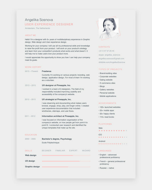 24 Free Resume Templates to Help You Land the Job - Resumes Templates