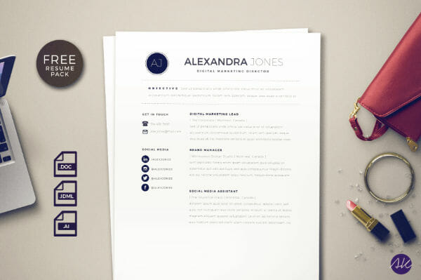 24 Free Resume Templates to Help You Land the Job - Free Graphic Design Resume Templates
