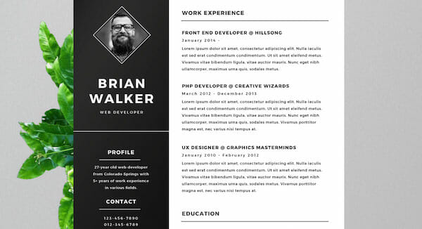 template word cv gratuit