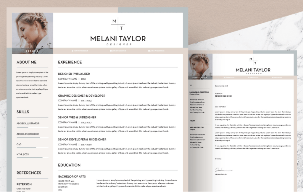 template cv marketing illustrator gratuit
