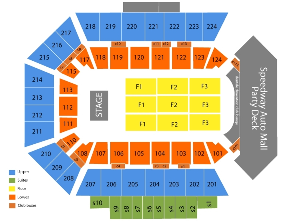 bmo harris seating chart - Seatledavidjoel
