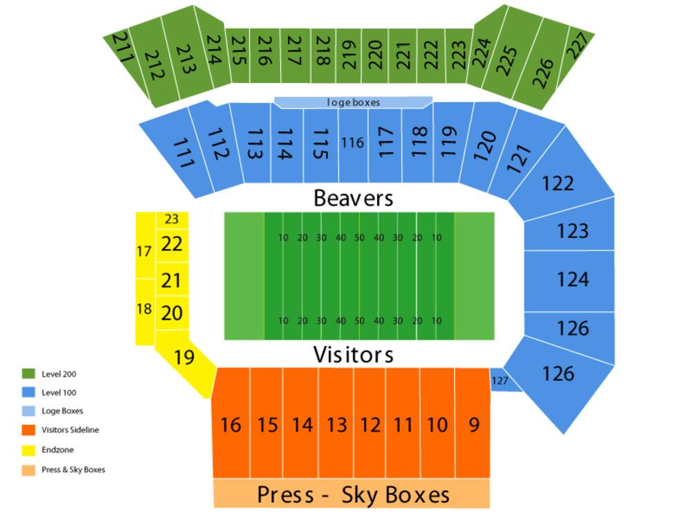 osu stadium seating chart - Heartimpulsar