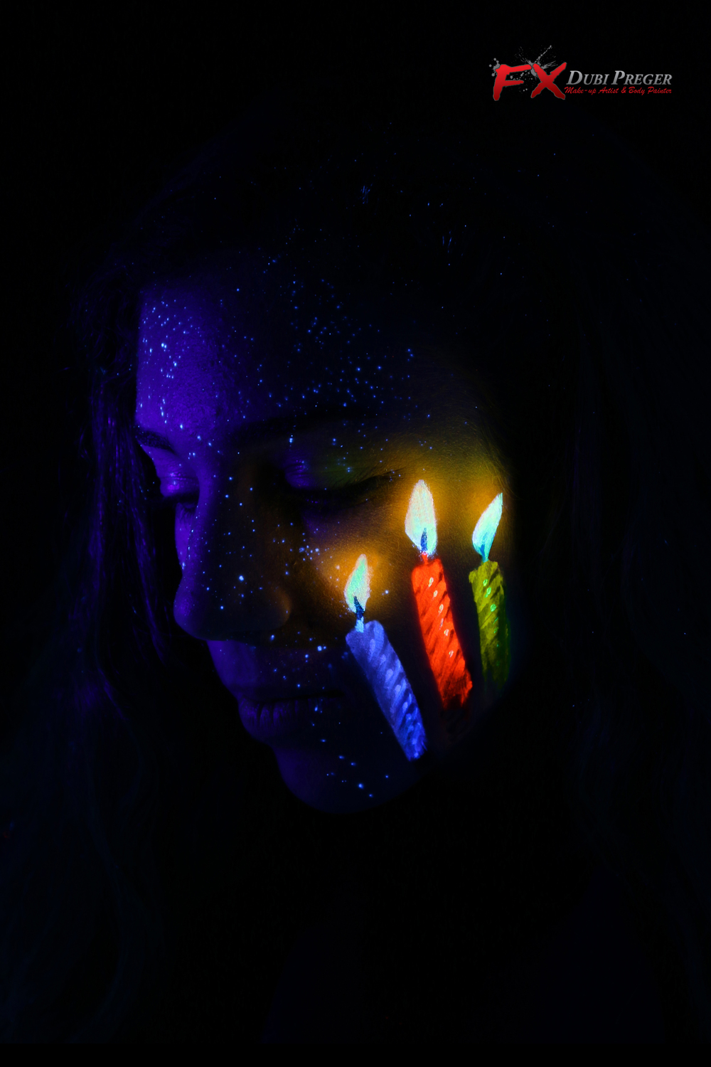 Candle Light Painting 201606 Neon Face Paint Design Contest