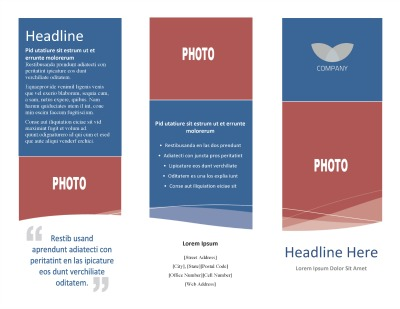 Template Tri-Fold Brochure - sample broucher