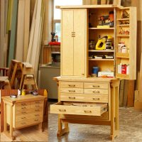 Heirloom Rolling Tool Cabinet Woodworking Plan from WOOD ...