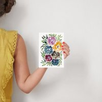 hand painted flowers Wall Art Prints by aticnomar | Minted