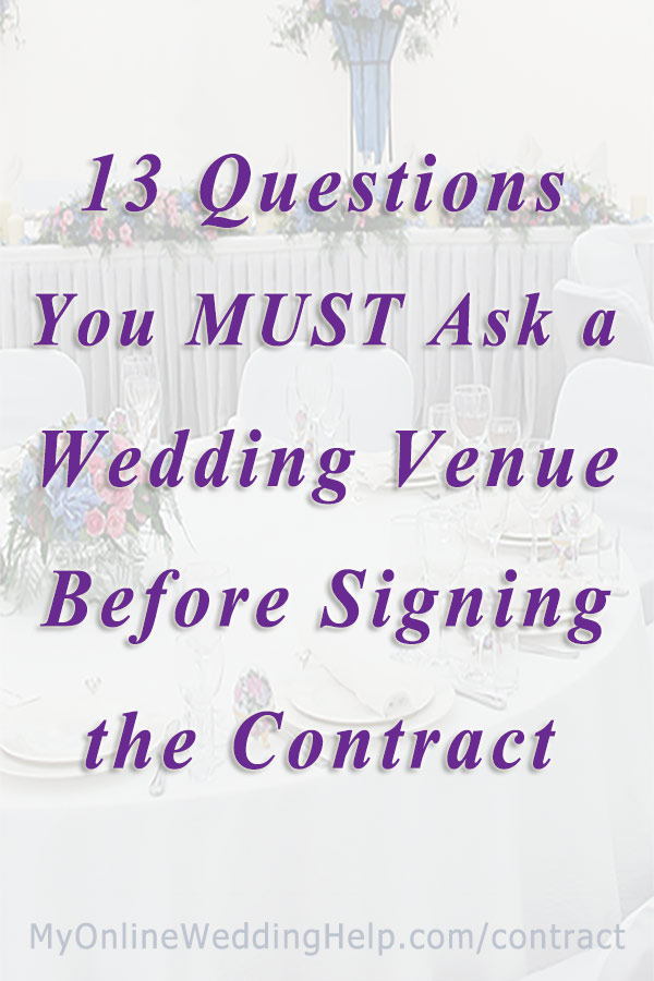Must-Ask Questions for Wedding Event Venues 13 Contract Tips - My
