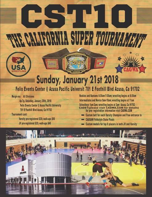 CAGWA / USA WRESTLING - (Santa Ana, CA) - powered by LeagueLineup