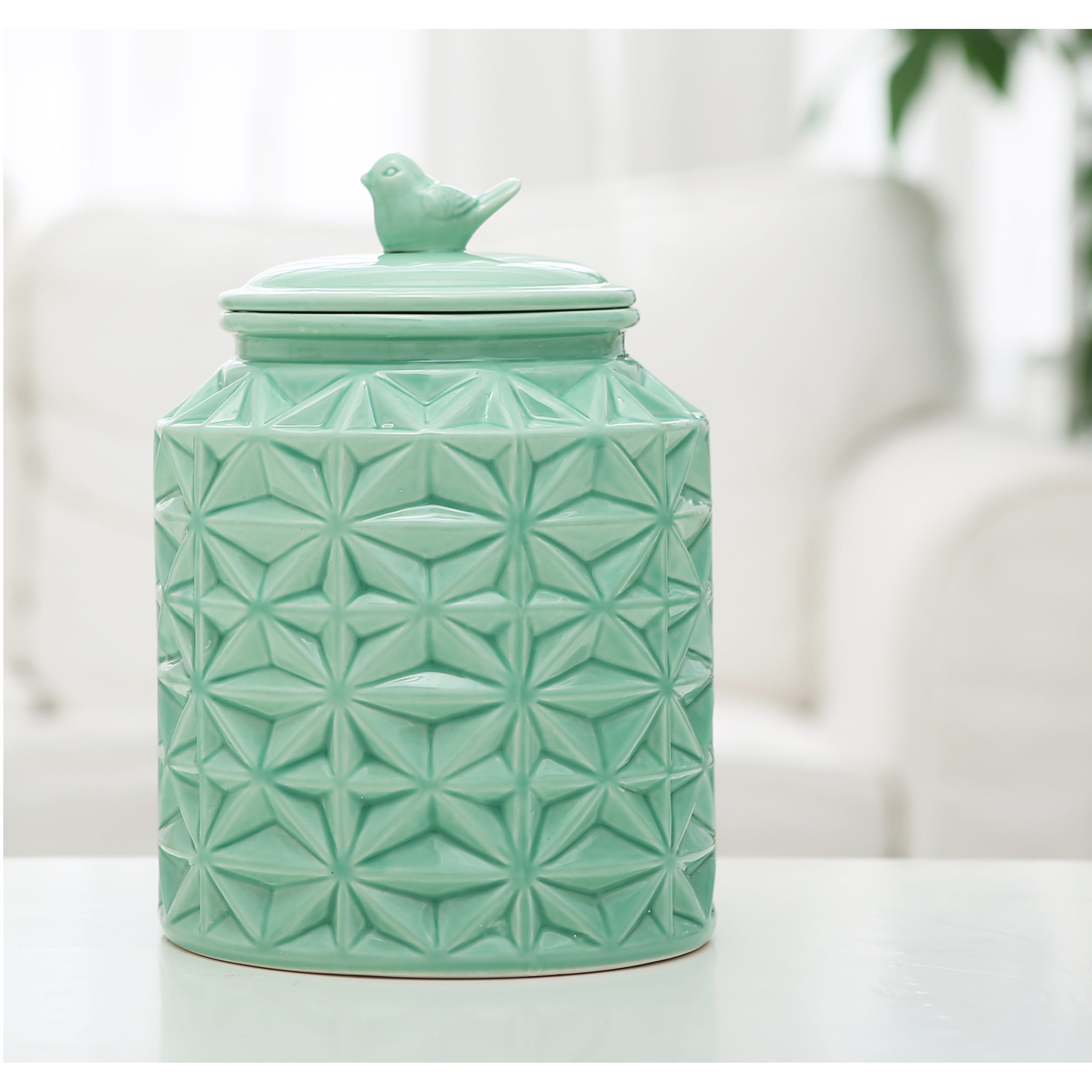 Ceramic Cookie Jar Sets Turquoise Ceramic Kitchen Flour Canister Cookie Jar