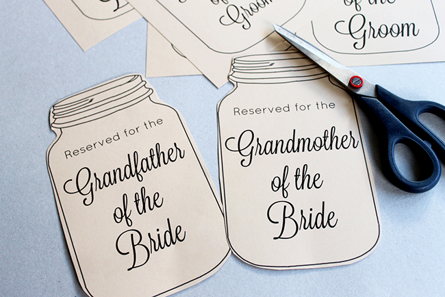 Wedding Seat Reservation Signs - MyPrintly