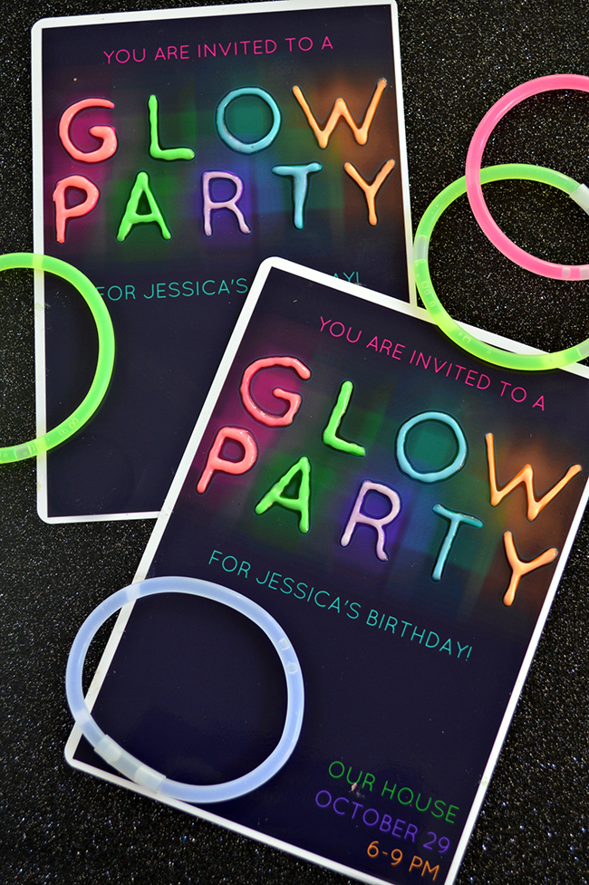 Glow in the Dark Party Invitations - MyPrintly