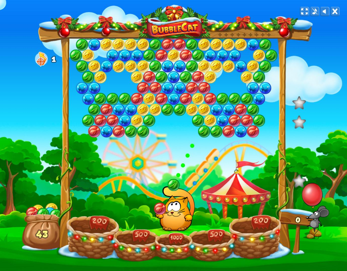 Bubble Games Bubble Cat Adventures Free Casual Games