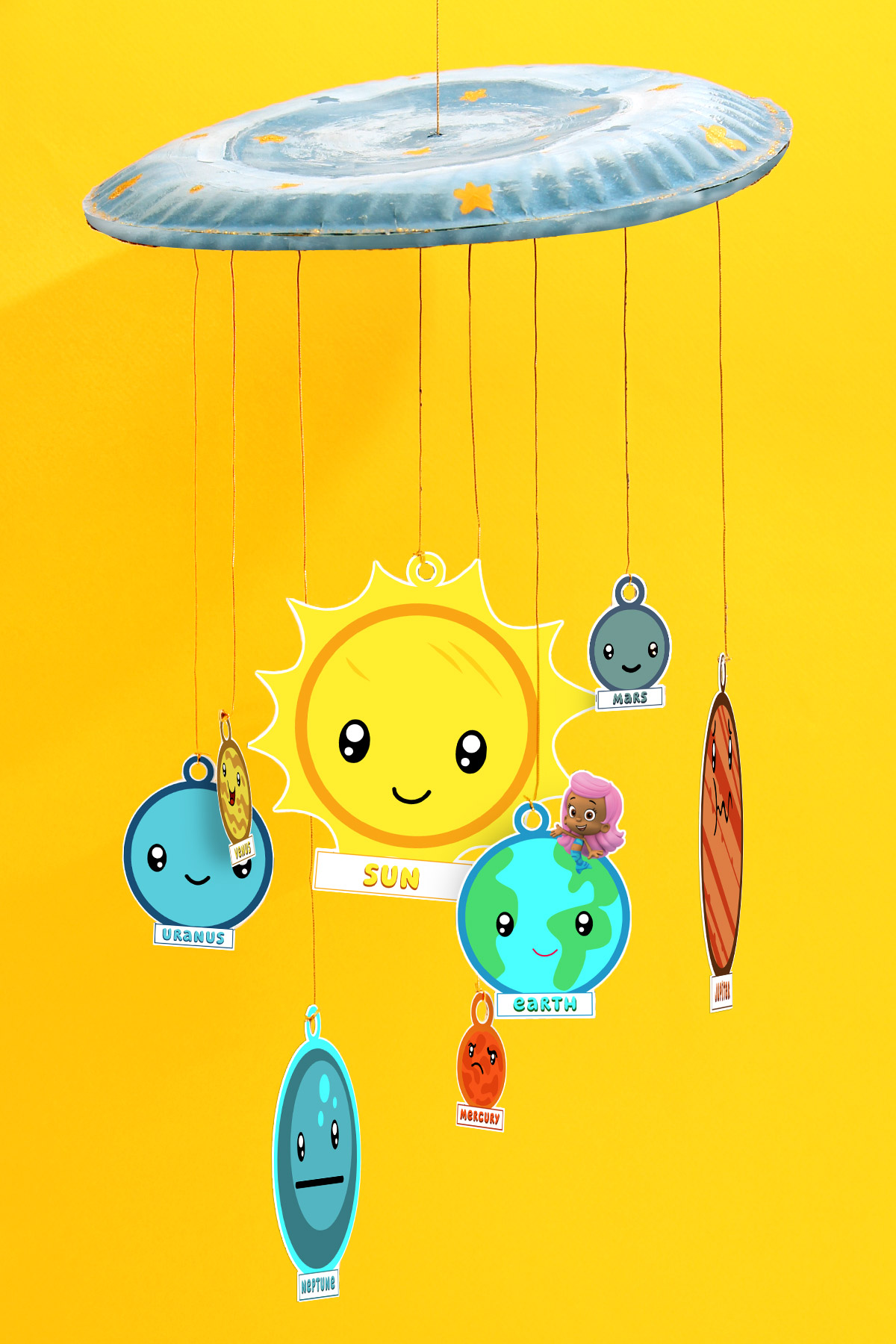 Space Crafts For Kids Bubble Guppies Solar System Craft Printable