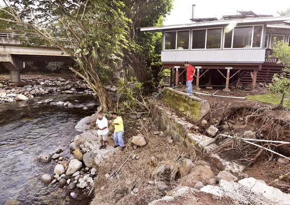 Officials survey aftermath of Waihee River flood News, Sports