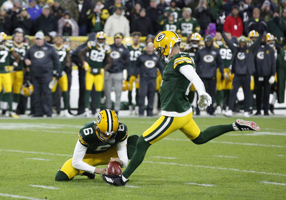 Green Bay Packers Kicker Mason Crosby Gets Redemption