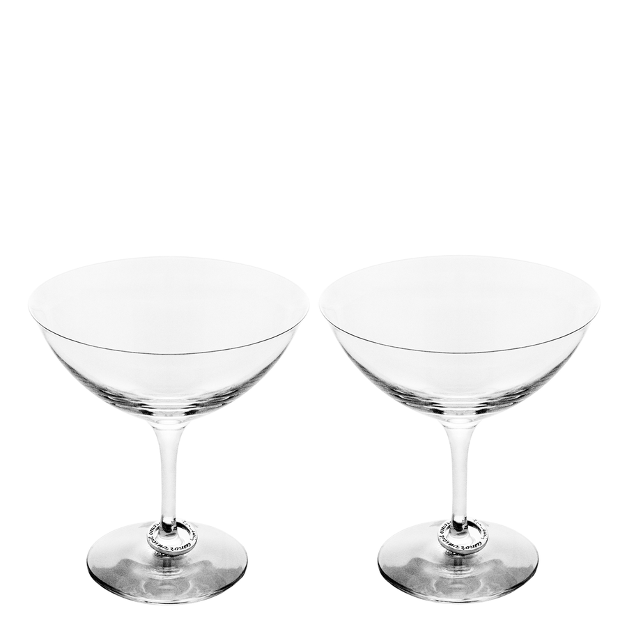 Champagne Coupe Amor Vincit Omnia Champagne Coupe Set Of 2