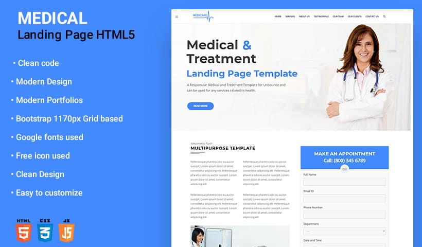 Medical - Clinic and Health WordPress Theme specially designed for