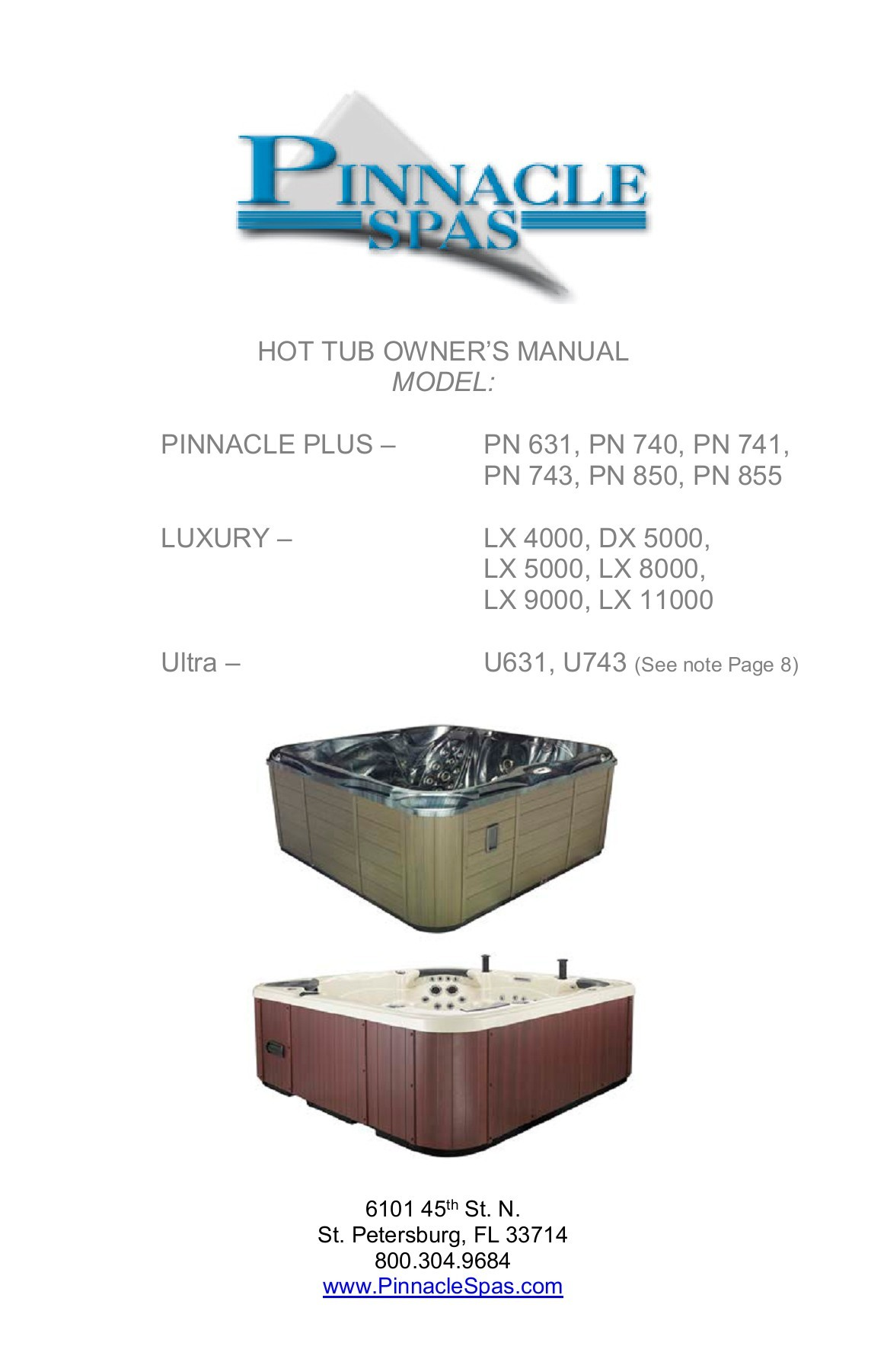 Jacuzzi Pool Manual Pinnacle Spas I Hot Tubs Owner Resources Guides And Manuals