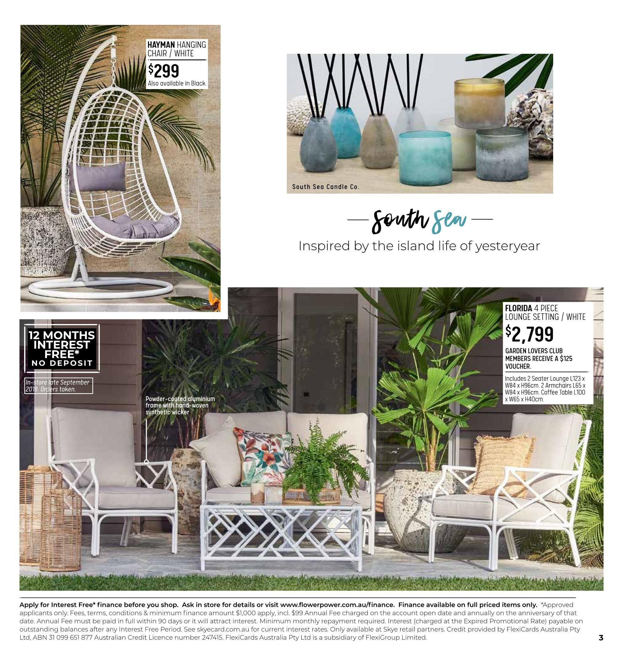 Outdoor Furniture Range Flower Power - Outdoor Furniture Clearance Outlet Penrith
