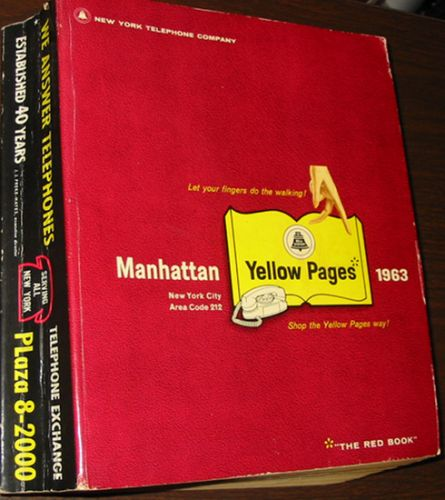 Tivoli New York Phone Book Old Telephone Books: 1963 Manhattan Y.p., New York United