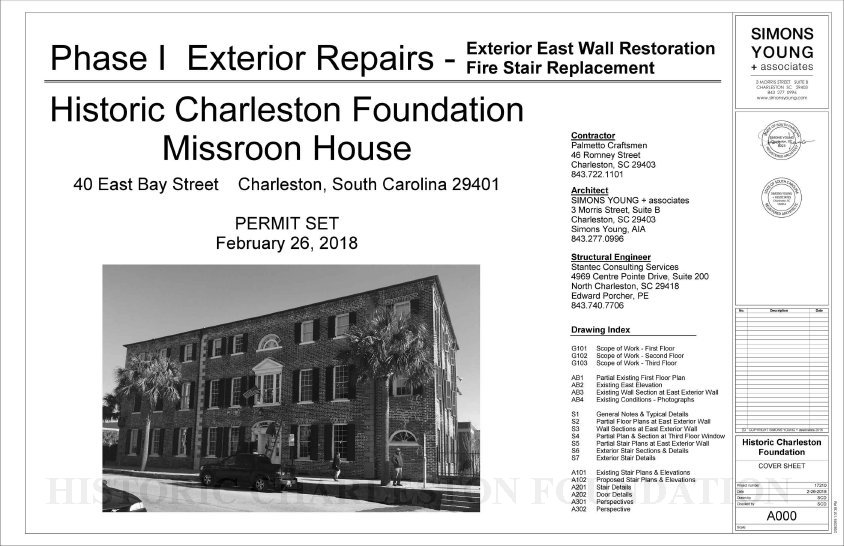 Phase I Exterior Repairs Exterior East Wall Restoration / Fire