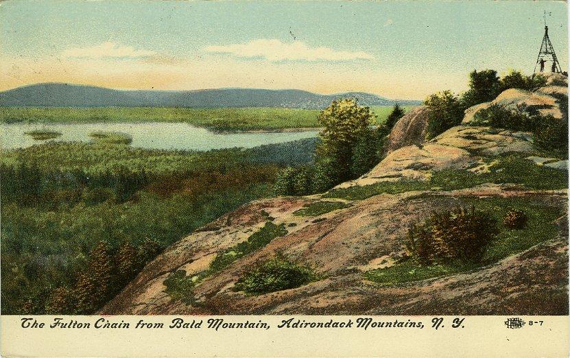 The Fulton Chain from Bald Mountain, Adirondack Mountains, NY
