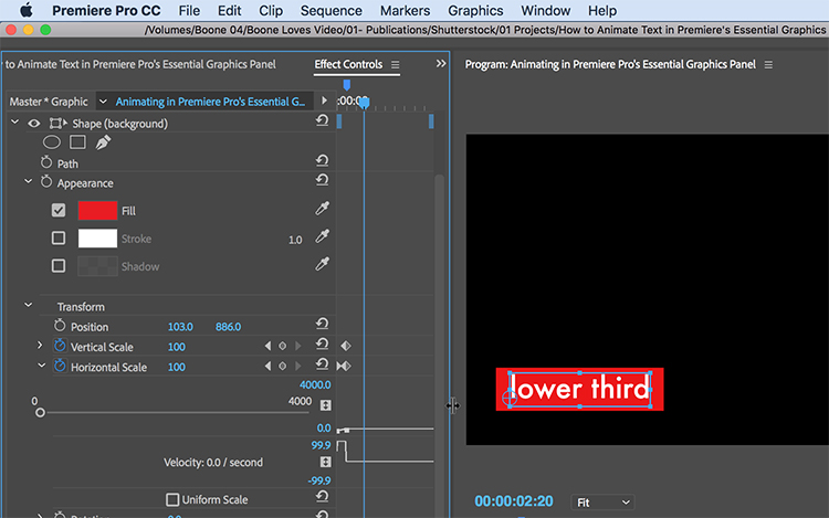 How to Animate Text in Premiere Pro\u0027s Essential Graphics Panel