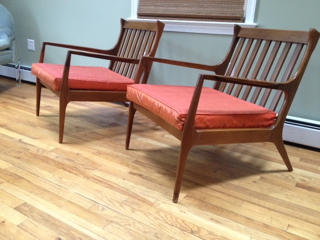 Pair Of Midcentury Danish Modern Lounge Chairs Apartment