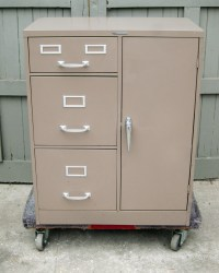 Mid century Steelmaster file cabinet with safe