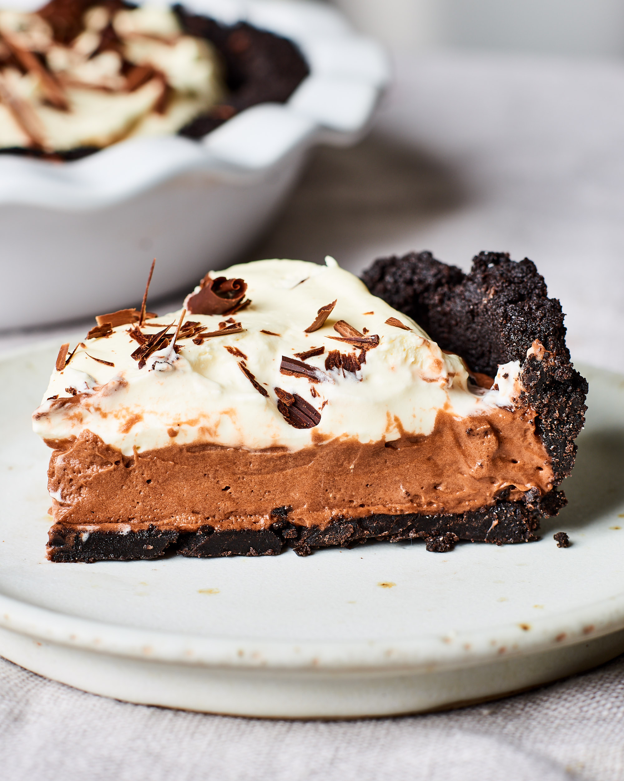 No Bake Oreo Kuchen Chocolate Cream Pie