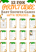 fox baby shower games Printables