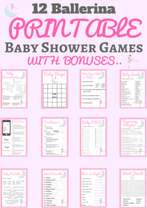 printable ballerina baby shower games