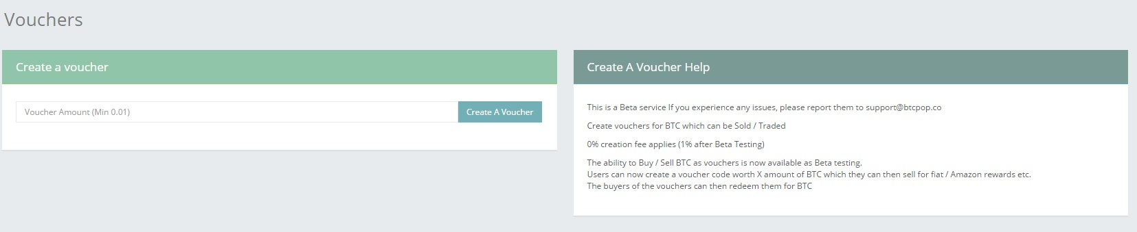 Create A Voucher ophion