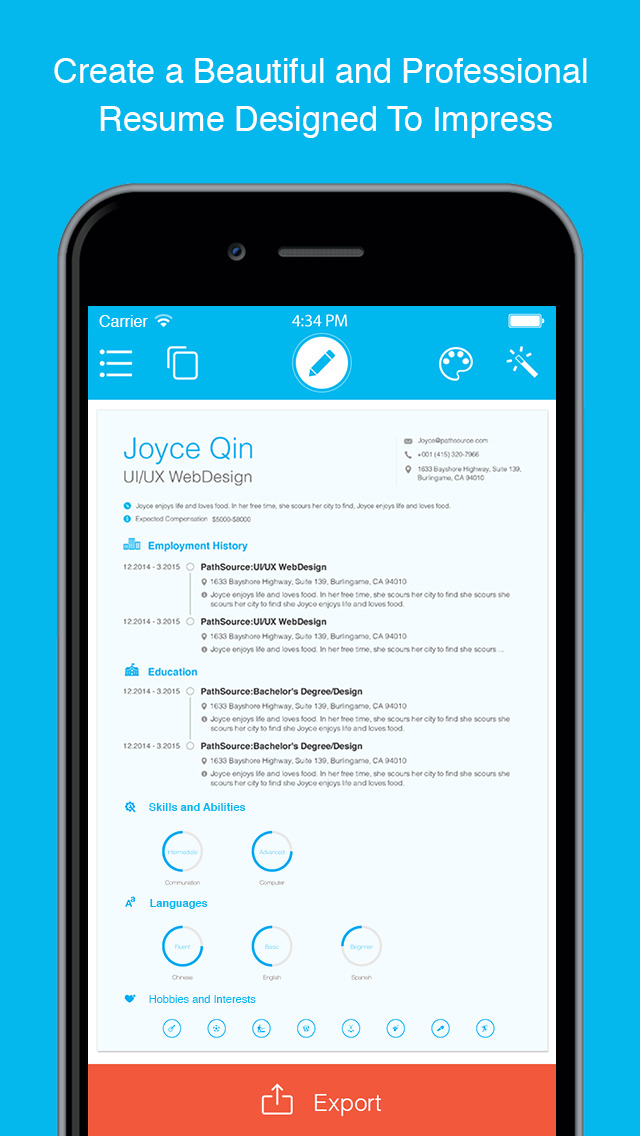 Resume The Free Resume Builder and Job App by PathSource - AngelList - free mobile resume builder