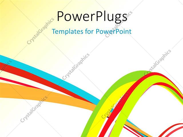 PowerPoint Template Abstract colorful creative rainbow wave line - rainbow powerpoint