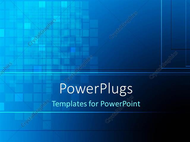 PowerPoint Template Abstract dark blue color checks background (29165)
