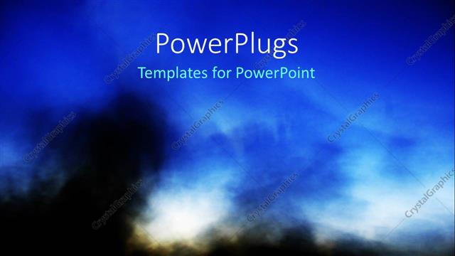 PowerPoint Template a bluish background with a lot of smoke (930)