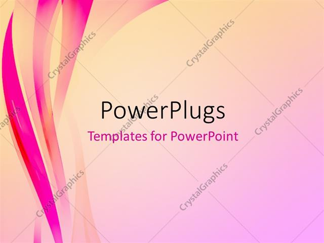 PowerPoint Template Abstract elegant background with pink waves (32588)