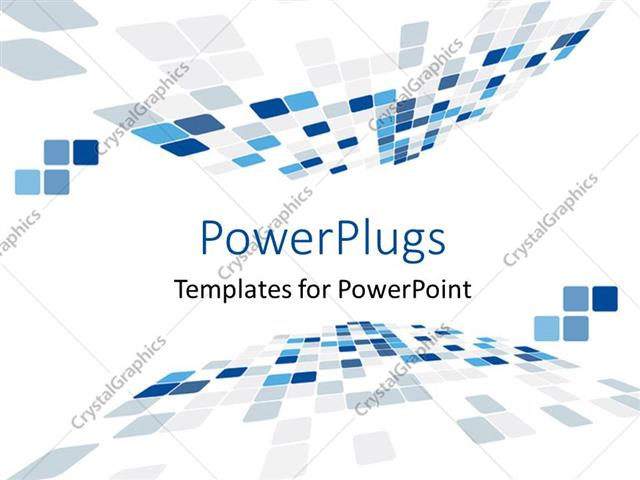 PowerPoint Template abstract perspective shapes with white color (449)