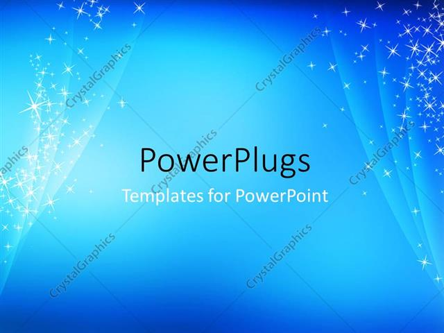 PowerPoint Template Abstract, simple, cool, blue sparkling - cool blue backgrounds for powerpoint