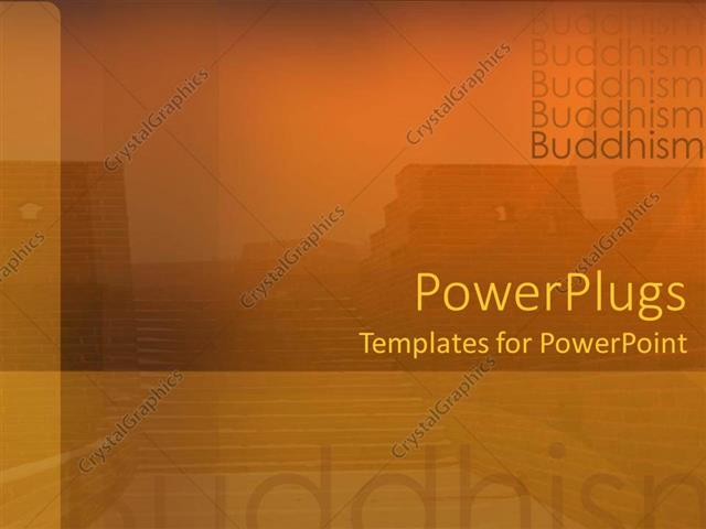 PowerPoint Template a background related to Buddhism with place for - buddhism powerpoint