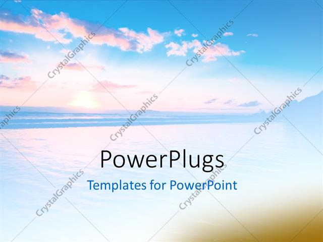 PowerPoint Template Beautiful abstract sunset scene with cool blue - cool blue backgrounds for powerpoint