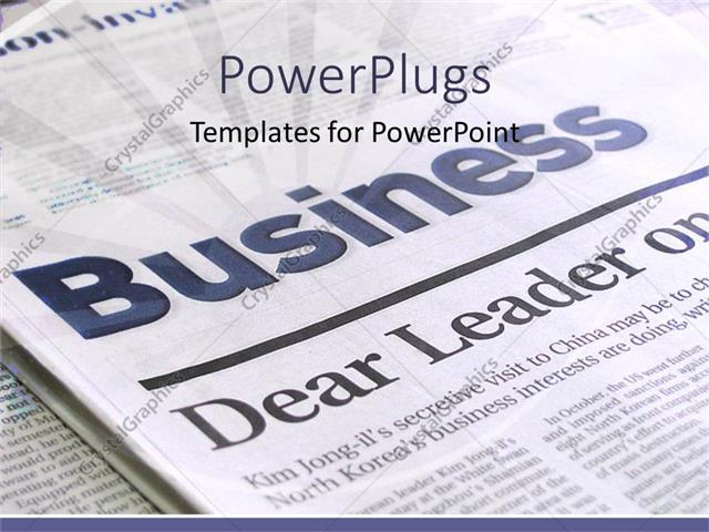 PowerPoint Template a beautiful depiction of a business page of a - newspaper powerpoint template