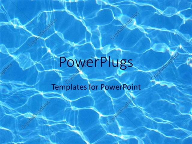 PowerPoint Template blue water reflections in pool summer swimming