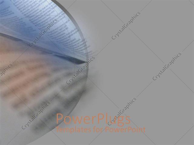 PowerPoint Template a book in the background with grey sides (19917)