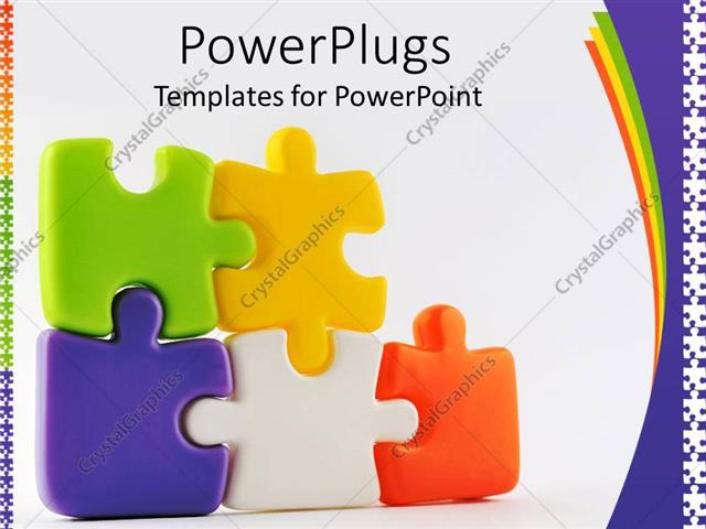 PowerPoint Template Colorful puzzle pieces (7708) - puzzle powerpoint template