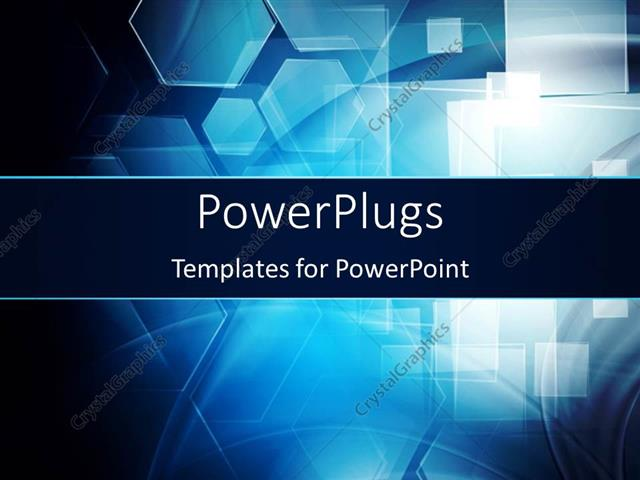 PowerPoint Template Dark hi-tech background with abstract shapes