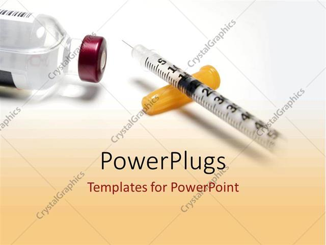 PowerPoint Template diabetic drugs and medicine from